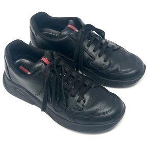 Prada Vitelli Plume Low Top Sneakers